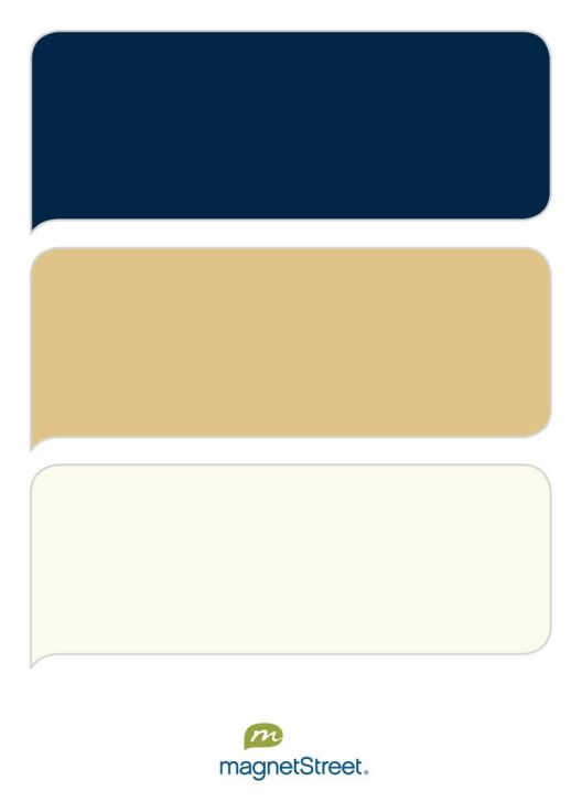 Navy, Gold, and Ivory Wedding Color Palette - custom color palette created at MagnetStreet.com @Ashley Walters Taje