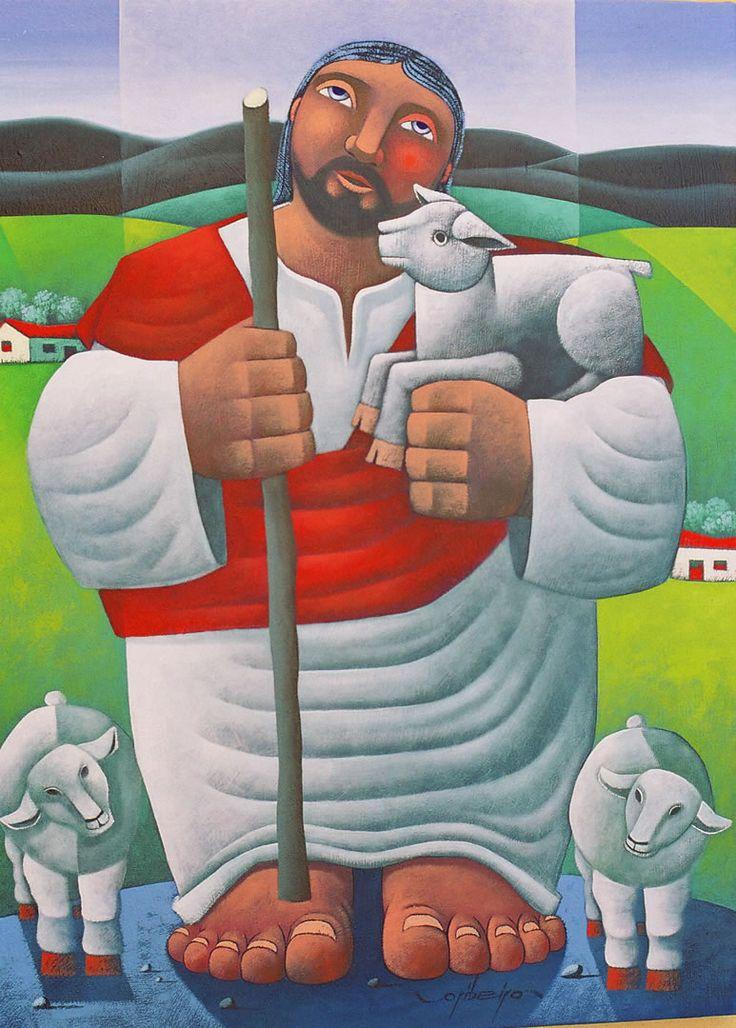 ":""The Good Shepherd"" by Brazilian artist Osvaldo Ribeiro"