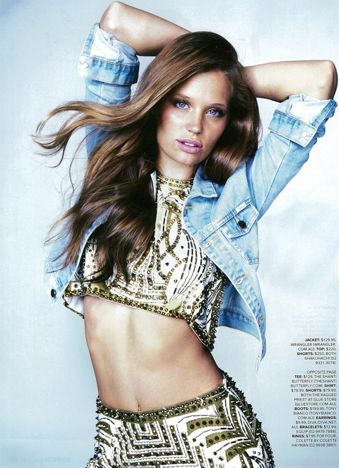 Our harlequin crop & shorts in Cosmo!