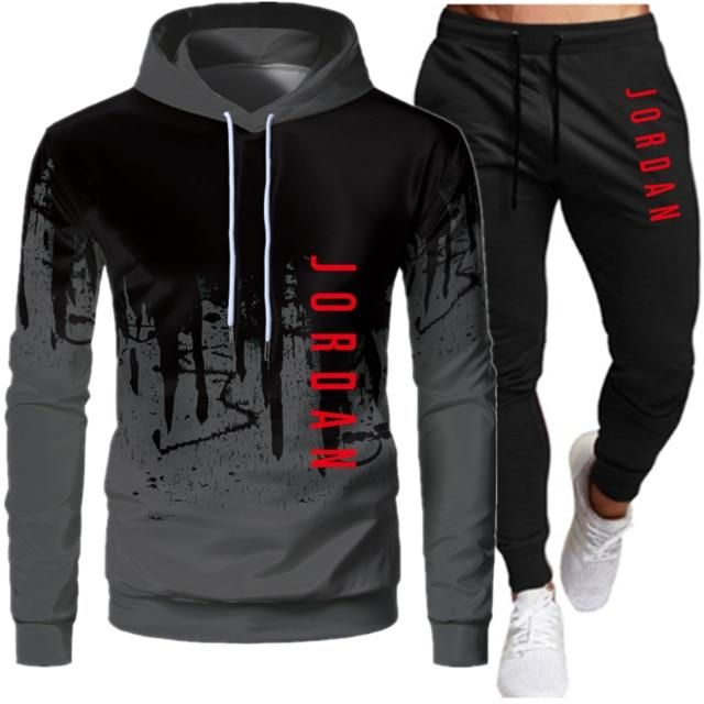 MEN TRACKSUIT HOODED PULLOVER SPORTSWEAR Men's athletic tracksuits 2 piece set, track jacket & jogger pants included. Suitable for sports, active, casual, fitness, workout, running, Gym,Hooded tracksuits set, suitable for spring, fall, and winter. The color of the pants are a little darker than the sweatshirts, keep that in mind before purchase. NOTE: It is the Asian size, 1 or 2 sizes smaller than the American Size!!! Please compare the detail sizes with yours before you buy!!! Details: Bra Jogging, Jordan V, Tracksuit Pants, Mens Tracksuit Set, Jogger Pants, Mode Costume, Track Suit Men, Hooded Sweatshirts, Hoodies
