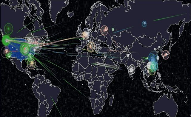 How to watch hacking, and cyberwarfare between the USA and China, in real time