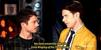 Twitter// Dirk Gently complementing Todd on his Hollywood doppelganger Frito.....