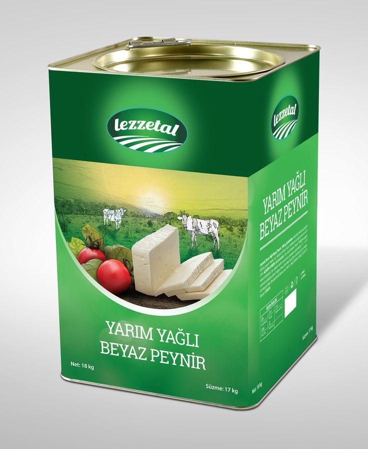 Lezzetal için hazırladığım teneke beyaz peynir ambalajı #ambalaj #peynir #tasarım