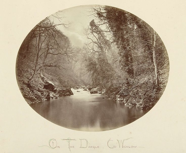 anoniem | Landschap met rivier de Dargle, Ierland, attributed to John Payne Jennings, 1867 |