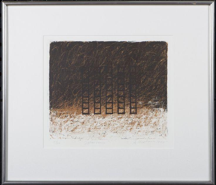 Reino Hietanen: Maisema, litografia, 29x33 cm, edition 5/30 - Hagelstam A127