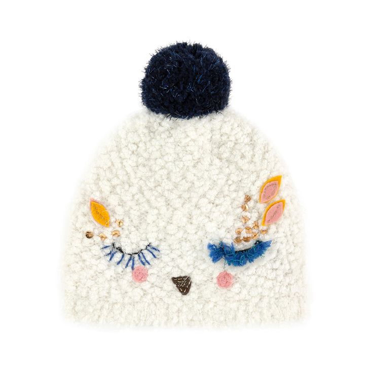 Polyester false fur Fleece lining Super soft Perfect to protect from the cold Fancy bobble Fancy patches Sizes: Head 49 cm (19 inches) = size 2-3 years Head 51 cm = size 4-6 years Head 54 cm = size 8-10 years - £ 47,38