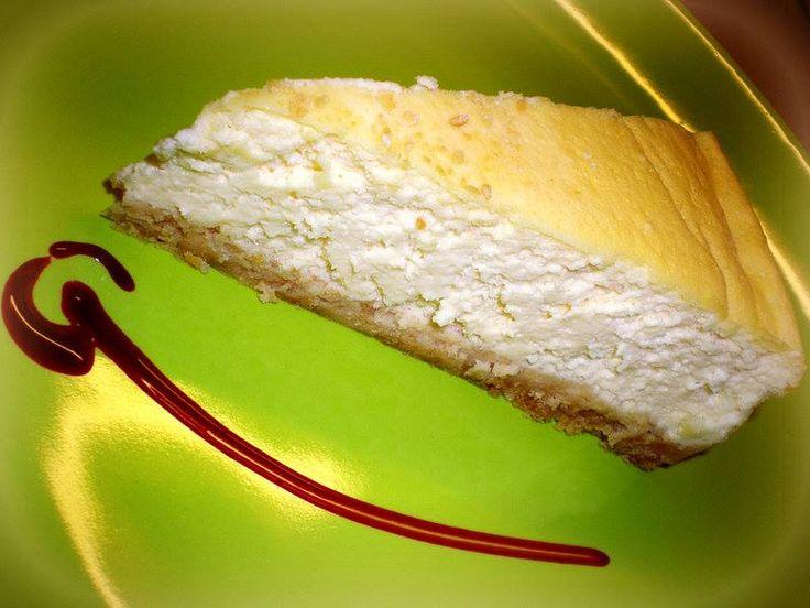 Isteni finom sajttorta.