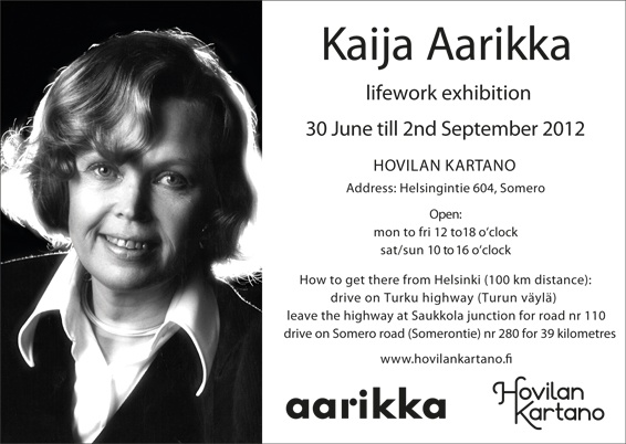 Kaija Aarikka lifework exhibition.