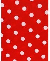 Kırmızı Puanlı Plastik Masa Örtüsü