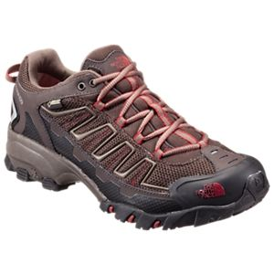 The North Face Ultra 109 GTX GORE-TEX Running Shoes for Men - Coffee Brown/Rosewood Red - 10.5 M