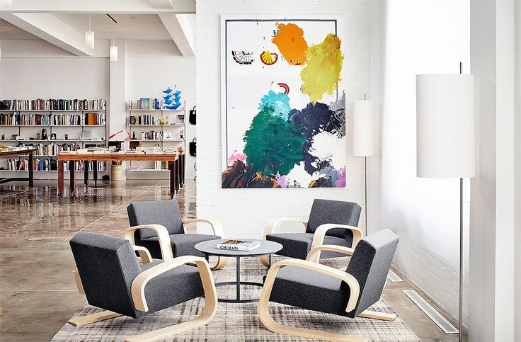 The lobby of the Hotel Saint George is also the new home for local favorite Marfa Book Company. Throughout the hotel you'll find hundreds of original art by regional artists, including works by Christopher Wool and Jeff Elrod.