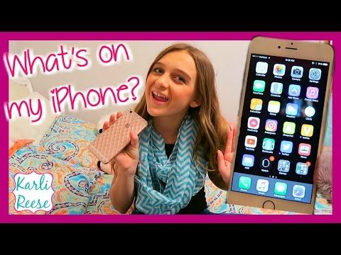 WHAT'S ON MY IPHONE | KARLI REESE - YouTube