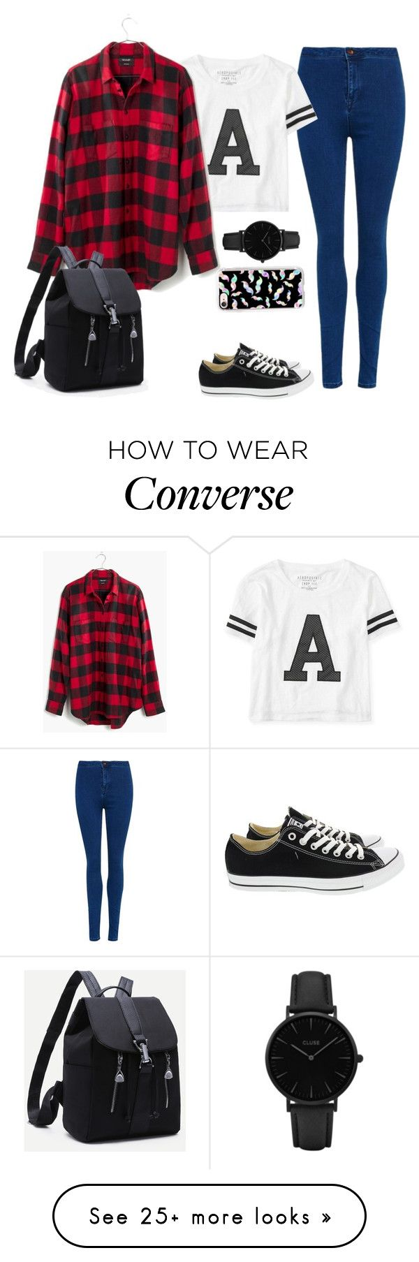 """A is from Amazing"" by cecilialukas on Polyvore featuring Superdry, Aéropostale, Madewell, Converse, CLUSE and Casetify"