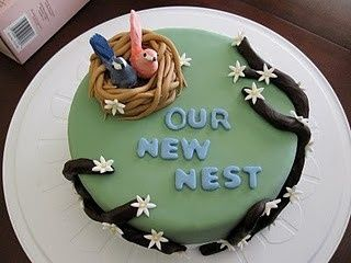 Cute cake for Housewarming Party...