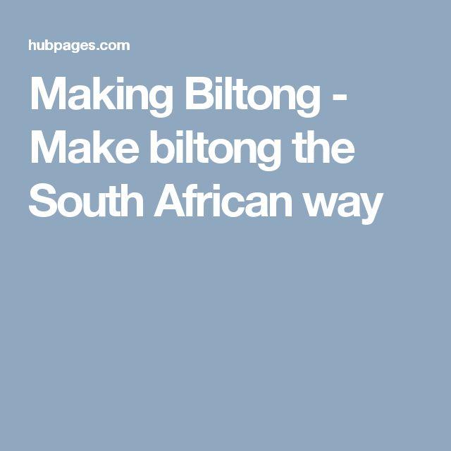 Making Biltong - Make biltong the South African way
