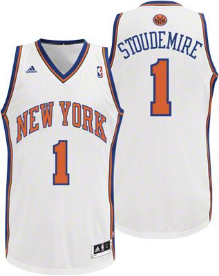 New York Knicks Amare Stoudemire 1 White Authentic NBA Jersey Sale