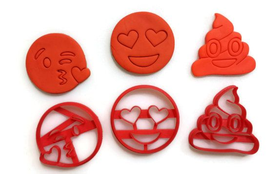 Emoji Heart Eyes Emoji Kisses Emoji Poop Cookie by Things4Thinkers