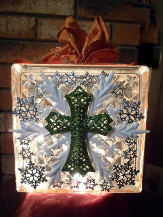 105 best images about diy kraft blocks on pinterest for Glass block crafts pictures