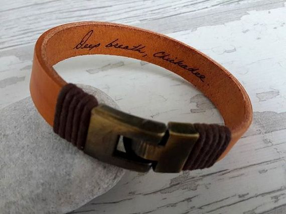 Actual Hand writing Bracelet   Personal Leather by tovvanda