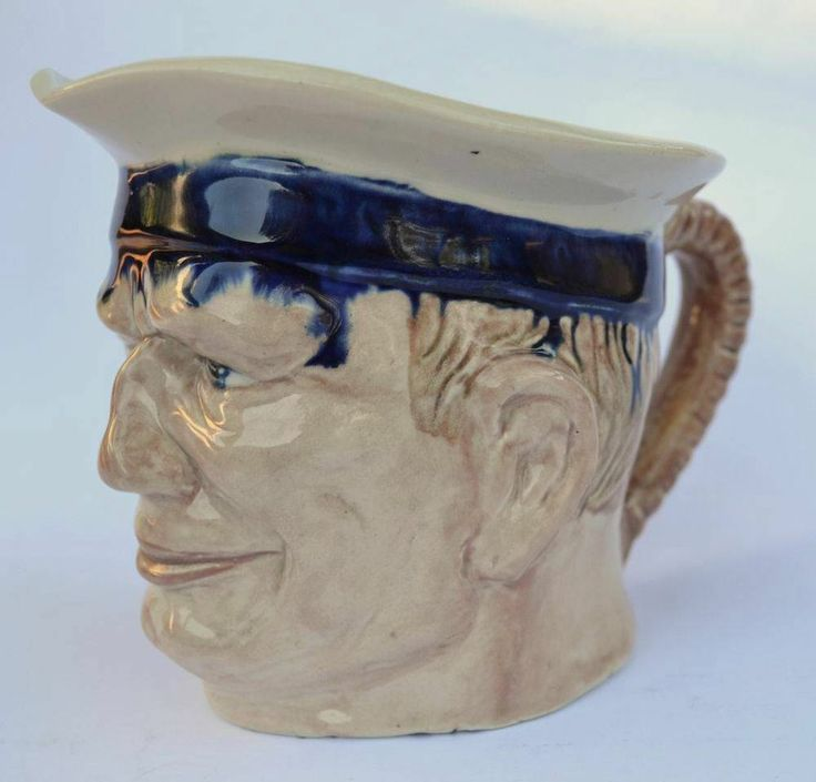 13.5cm x Melrose Ware Australian Pottery Seafarers Sailor Character Toby Jug
