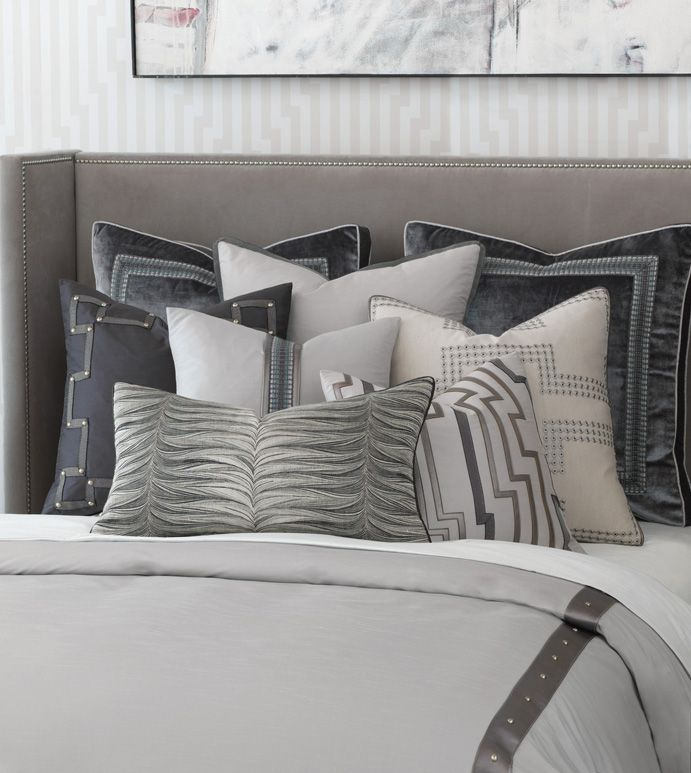 Hendrix Gray Metallic Bedding Collection By Eastern Accents