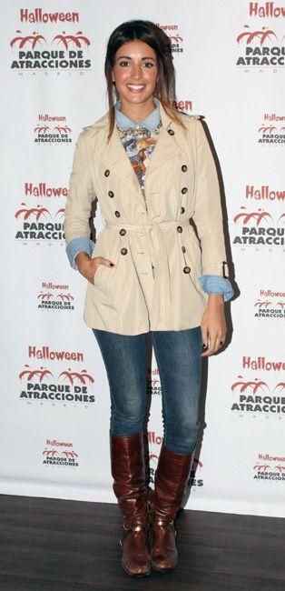 La modelo Noelia López en una fiesta de Halloween en el Parque de Atracciones de Madrid