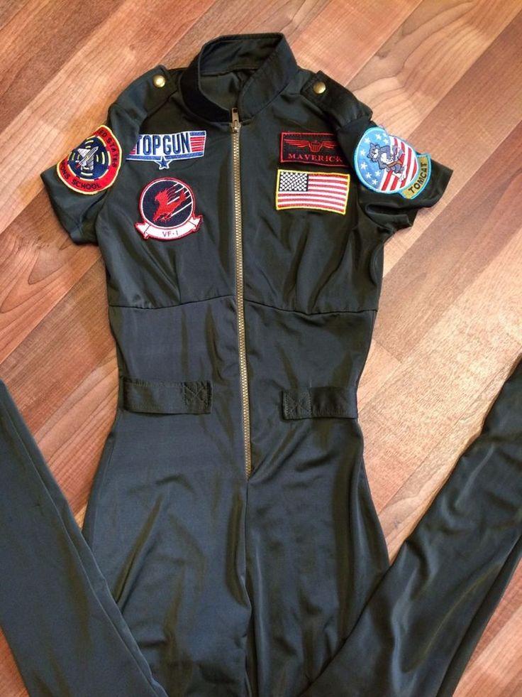 womens Top Gun maverick halloween costume size small military pilot goose outfit