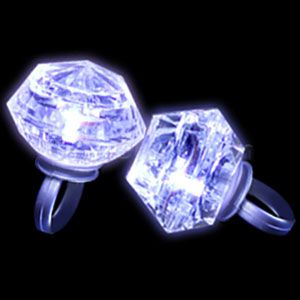 LED Diamond Bling Rings are the perfect party favor for Bachelorette parties and Bridal showers. As low as $1.12 each @coolglow.com