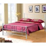 Birlea 120cm Pluto Small Double Metal Bed Frame in Silver with slatted base Dimensions(cm): Width: 125 Length: 192 Height: 97Modern style metal bed frame in Silver finishFlat packed for easy self-assembly Image representative of style and will vary according to size selected. http://www.comparestoreprices.co.uk/beds/birlea-120cm-pluto-small-double-metal-bed-frame-in-silver-with-slatted-base.asp