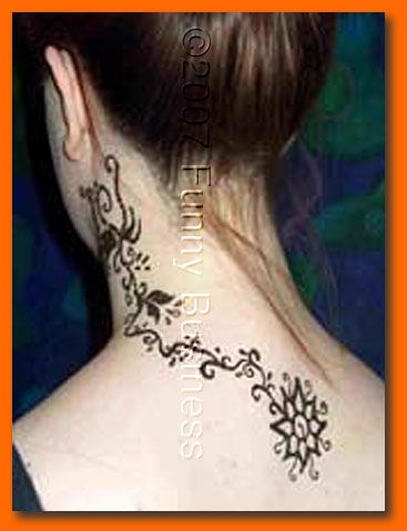 henna back of neck. Black Bedroom Furniture Sets. Home Design Ideas