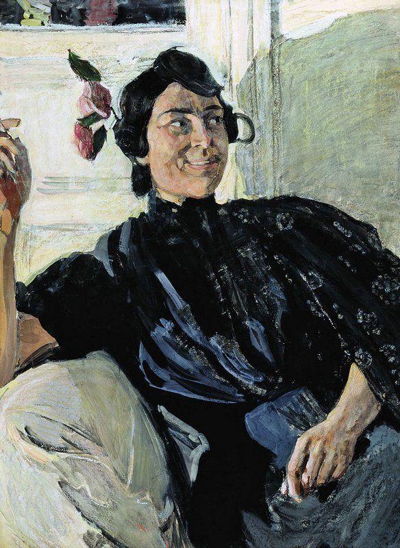 Aleksandr Golovin (Russian, 1863-1930) - Spanish Woman with Cigarette / Александр Головин - Испанка с папиросой, 1907-08