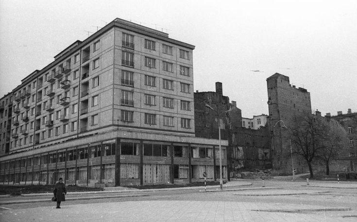 Warszawa - ulica Smolna i Aleje Jerozolimskie (1962)