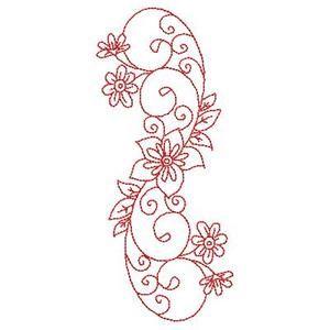Embroidery Patterns Redwork Florals