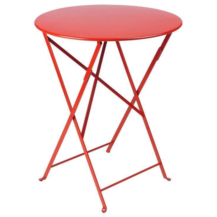 Bistro bord Ø60, poppy red i gruppen Rum / Udendørs / Udendørsmøbler hos ROOM21.dk (102378)