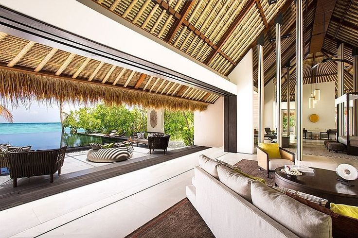Cheval Blanc Randheli Hotel, Maldives / high ceilings, straw roof, oudoor- indoor spaces, and THAT view ... love it <3