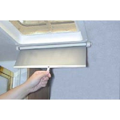 Lights Out RV Ventshade. Self-storing shade covers ceiling vents at night to prevent moonlight or street light from shining into RV. Mounts easily and quickly retracts for storage. Durable. Your Price: $11.91