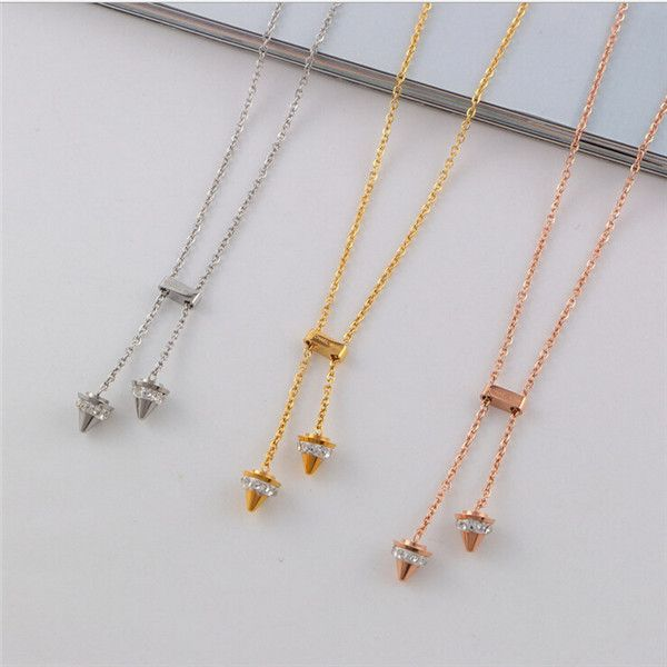 Yiwu Aceon Fashion jewelry stainless steel gold pendent Adjustable necklace designs in 10 grams