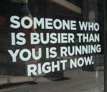 Always time to run...
