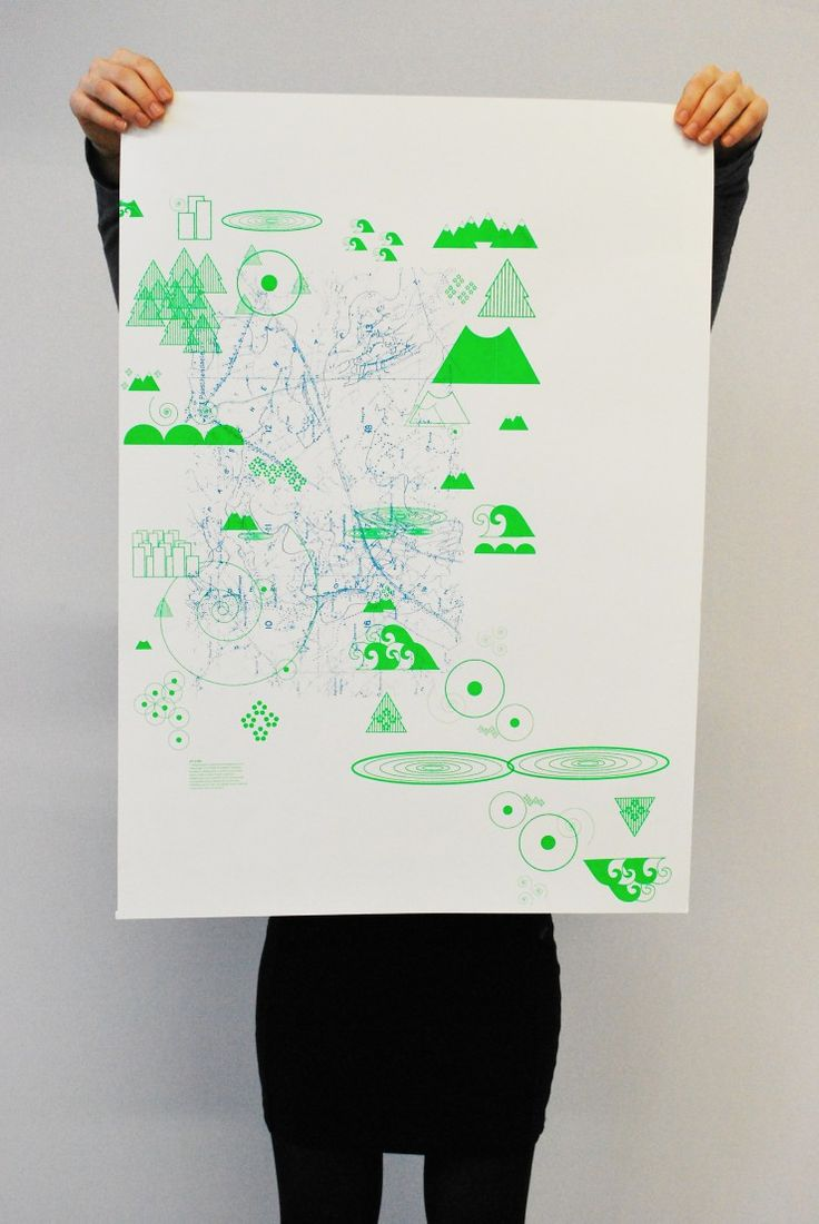 serigraphie affiche poster illustration graphic design - sil screen bichromy