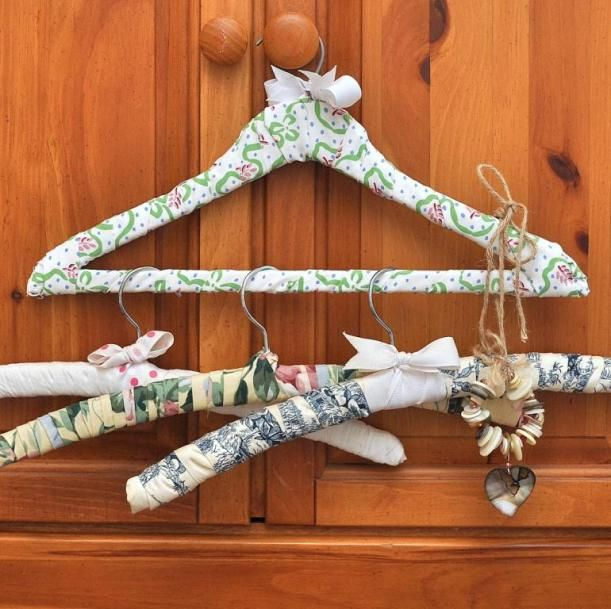 Creating padded DIY Fabric covered hangers