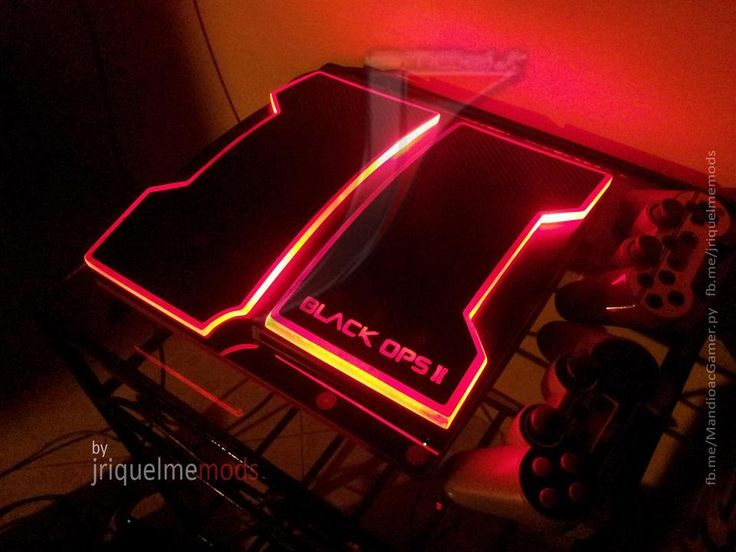 CoD: lack Ops 2 Styled PS3 Slim Mod