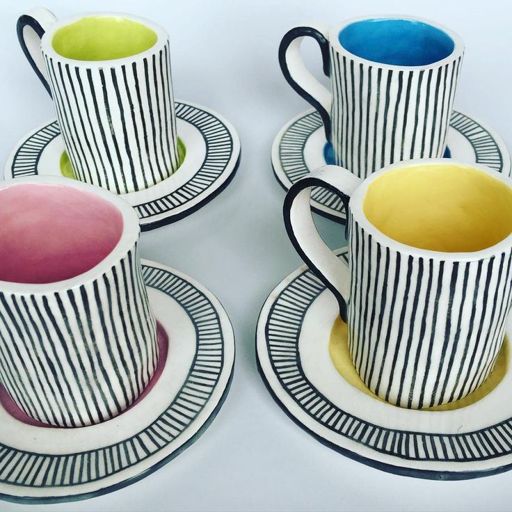 Porcelain espresso cups. Ready to hand over to the new owner. Big thanks to @ingriddusselberg