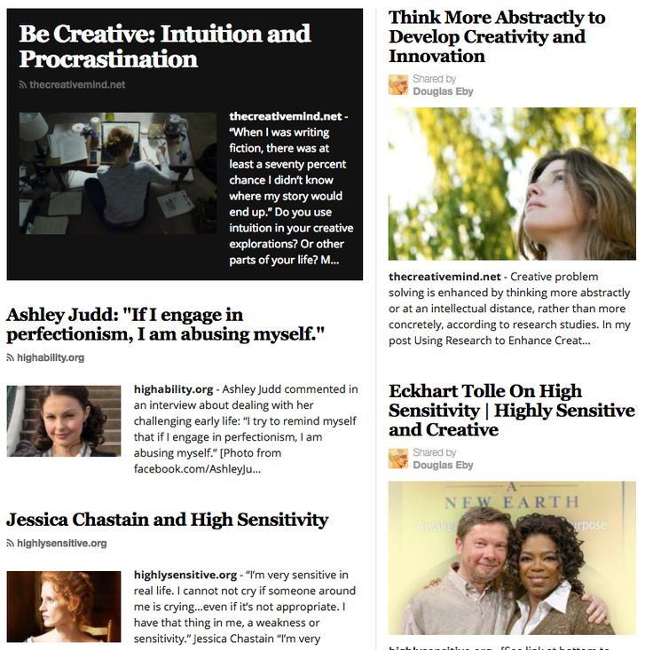 The Creative Mind newspaper - Information and inspiration to enhance your creativity and personal growth. This image shows some of the articles.