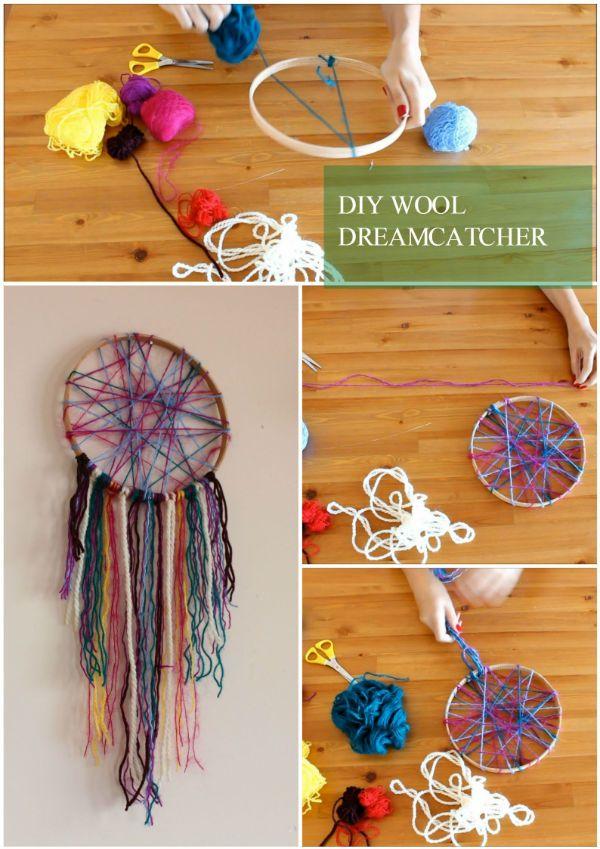 DIY Wool Dreamcatcher