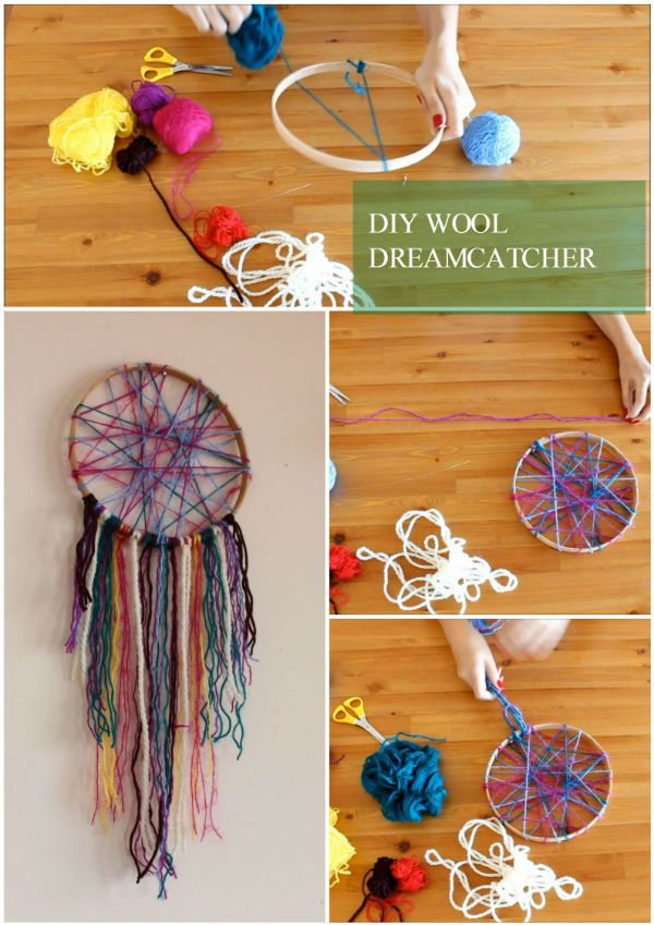 DIY Wool Dreamcatcher