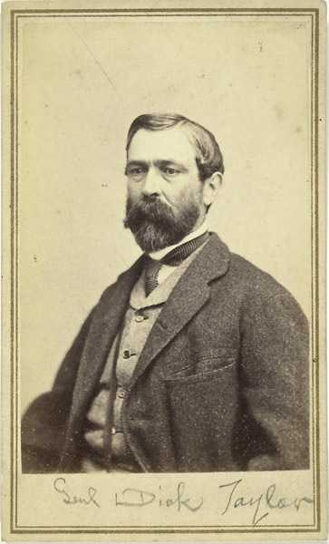 """Confederate Gen'l Richard """"Dick"""" Taylor - son of former US president Zachary Taylor, and brother-in-law of President Jeff Davis."""