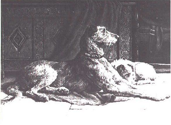 Hound from Dicksee etchings