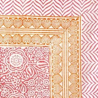 #Pink #Orange Block Print