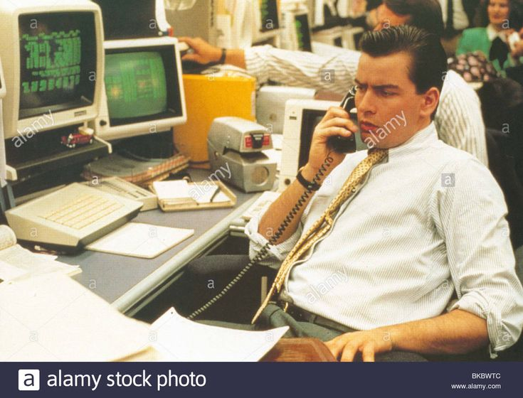 WALL STREET (1987) CHARLIE SHEEN WLS 013FOH Stock Photo
