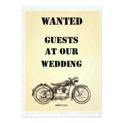 WANTED biker wedding invitation - marriage invitations wedding party cards invitation